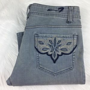 Men's Seven 7 Distressed Blue Jeans
